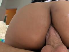 Curvy ebony Bethany Benz anal fucking