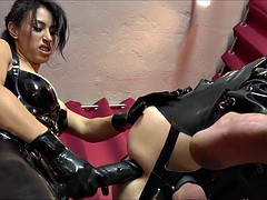 Anal, Bondage domination sadisme masochisme, Femelle, Femme dominatrice, Strapon