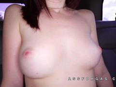 Hailey Little looks shocked by cock size