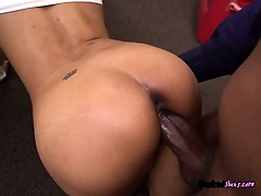Receptionist Nikki Kay Gets Bonked By Janitor