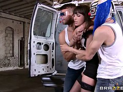 Divorced woman rough gangbang by 3 guys