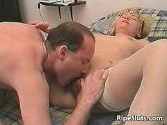 Horny grown-up blonde hoe gets that unshaved part4