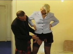 Huge blonde and additionally scottish cock