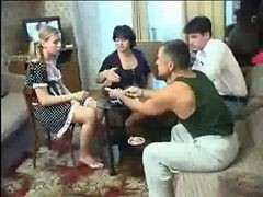 Russian Poker Strip Game Ends In An Drunk Group orgy