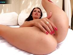 Atena pleasures Thomas Strong and swallows his cum
