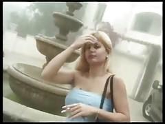 Hot Blonde Smoking Before Sex