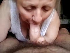 Grandma giving oral sex