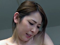Brunette Asian MILF sucks a cock and gets penetrated