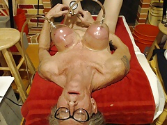 Tit's and nipples pumped an orgasm