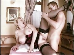 Big Tit Slut In Corset Fucked
