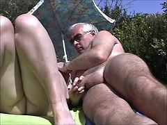 Amateur, Playa, Británico, Penetracion con dedos, Voyeur
