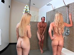 Blonde Threesome with Teen and Her Mom