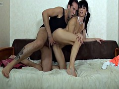 Skinny amateur french mature hard sodomized in POV