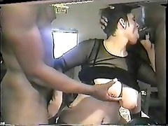 Thick white pierced floozy gets group-fucked by black lads 2 of 4
