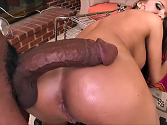 Nika Noir takes giant black cock