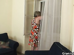 Super-Fucking-Hot fellow plows lonely granny