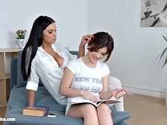 Lesson Dreams By Sapphic Erotica - Sensual Lesbian Scene With Kyra Queen Veronica Moore