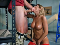 Nerd gets Big Tits at Work