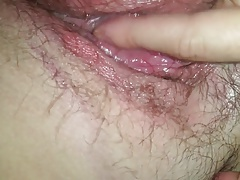 Young couple close up cunnilingus and clit massage