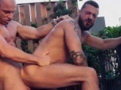 Homosexuelle, Masturbation, Muscle, De plein air