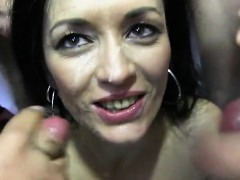 Hot pornstar bukkake and cumshot