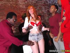 Redhead Lauren Phillips Gets Gangbanged and Dpd