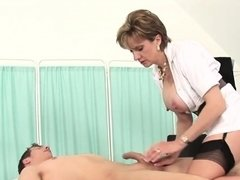 Unfaithful british mature lady sonia shows off her big breas