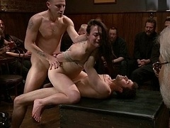 Group-fucked in Public