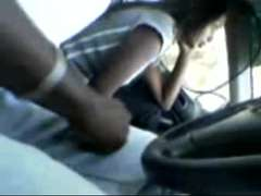 desi-malaysian tamil chick providing blow-job in car