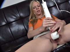 squirting blonde with winking assole
