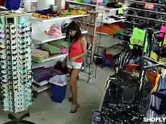 Flirty thief Lily Jordan got fucked in the office