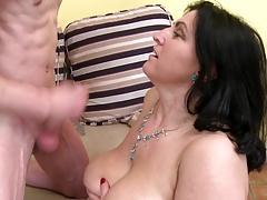 Taboo posh mature mom seduce young son