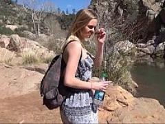 Kenzlee in the waterfalls