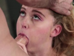 Blonde high school slut fucked rough by a history teacher