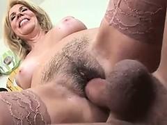 naughty-hotties net - Sexy blonde MILF has her hairy cunt sl