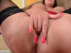BBW sexy curvy milf Emma Butt loves hardcore