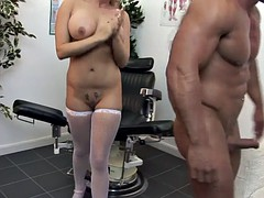 naughty nurse sucks cock for her patient treatment