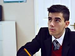 MILF teacher fucking nerdy boy