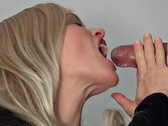 Double Orgasm Blowjob in Alina's Gloryhole