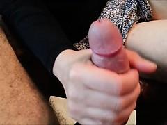 Amateur Cougar Gives Younger Man a Handjob