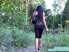 Privat Outdoor Fuck n Cum in Teen mouth