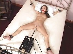 Charlie Laine Restrained To Bed And besides Fucked By Machine