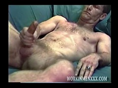 Steve mature man masturbates