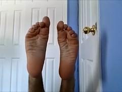 Sweaty socks and boy feet after jog
