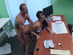 Sinful doctor uses his office space for pleasure
