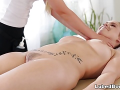 Edyn Blair and her student Lyra Law