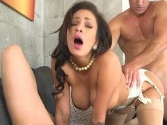 Two sexy bitches lick pussy and they also do cock sucking today