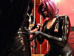 sexy mistress, latex gloves