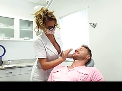 Busty nurse Corinne Blake seducing a patient