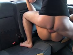 Massive tits passenger screwed real hard by nasty driver